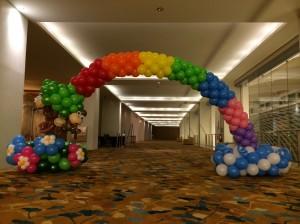 Balloon Rainbow with Monkeys Arch