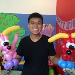 Balloon Dog at Birthday Party