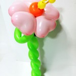 Balloon love flowers