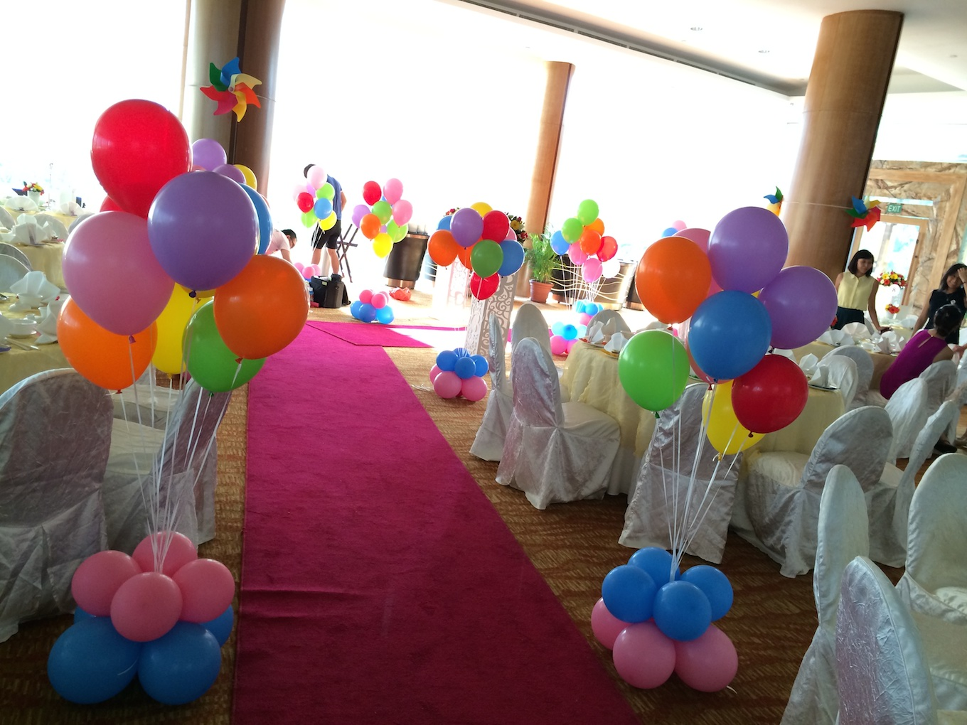 Rainbow balloons that balloons for Balloon decoration making