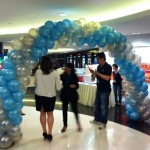Spiral Balloon Entrance Arch