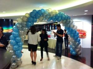 Spiral Balloon Entrance Arch