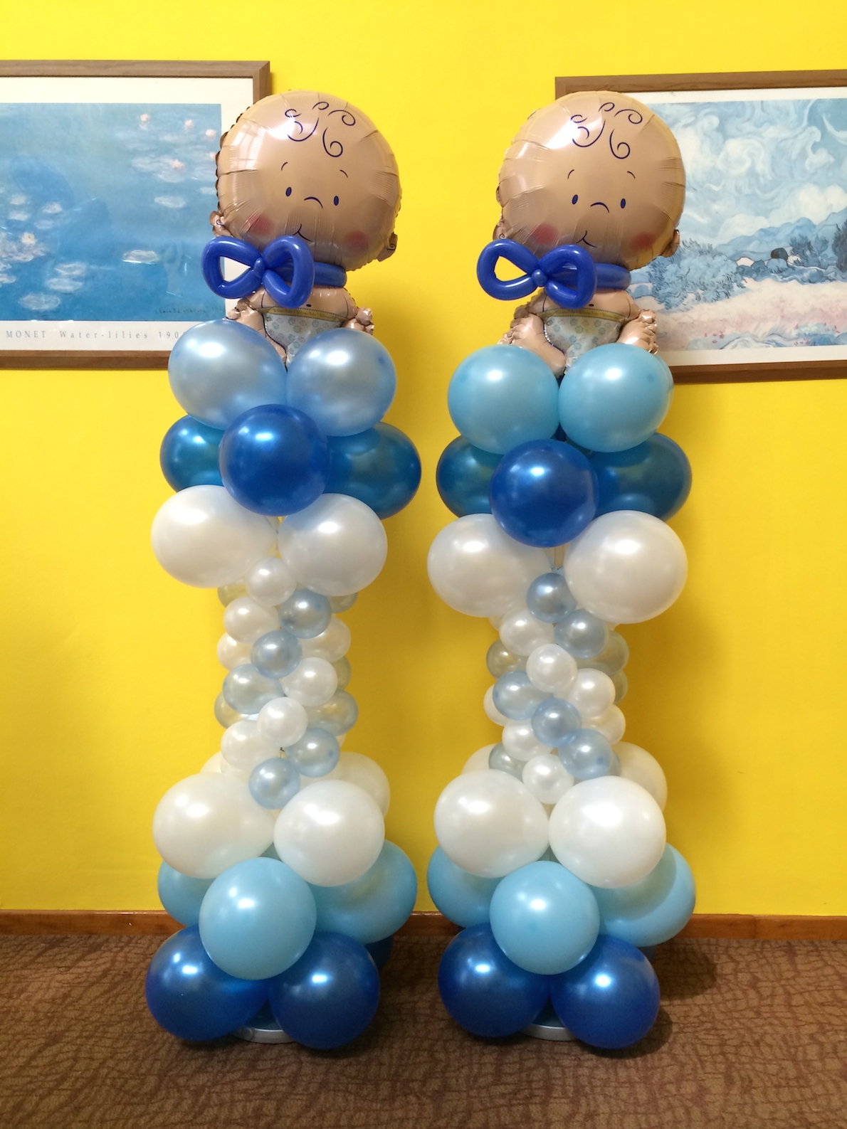 Baby birthday balloon decorations that balloons for Baby birthday decoration photos