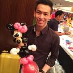 Balloon Minnie Mouse Sculpture