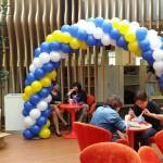 Spiral Balloons Arch
