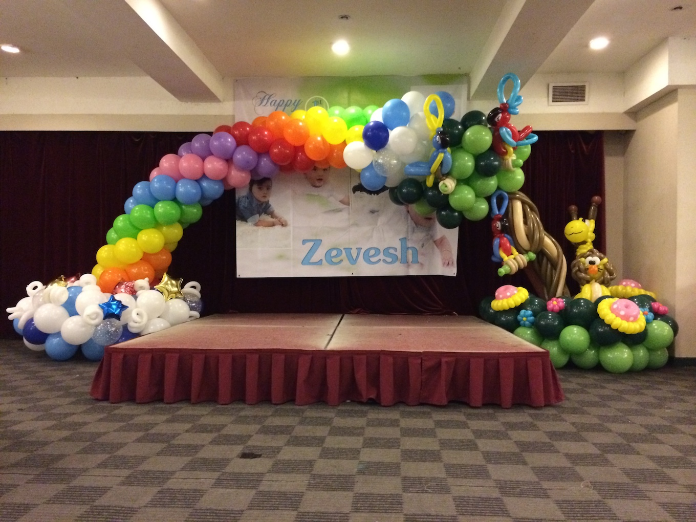 Balloon decorations for birthday party that balloons for Balloon decoration ideas for 1st birthday party