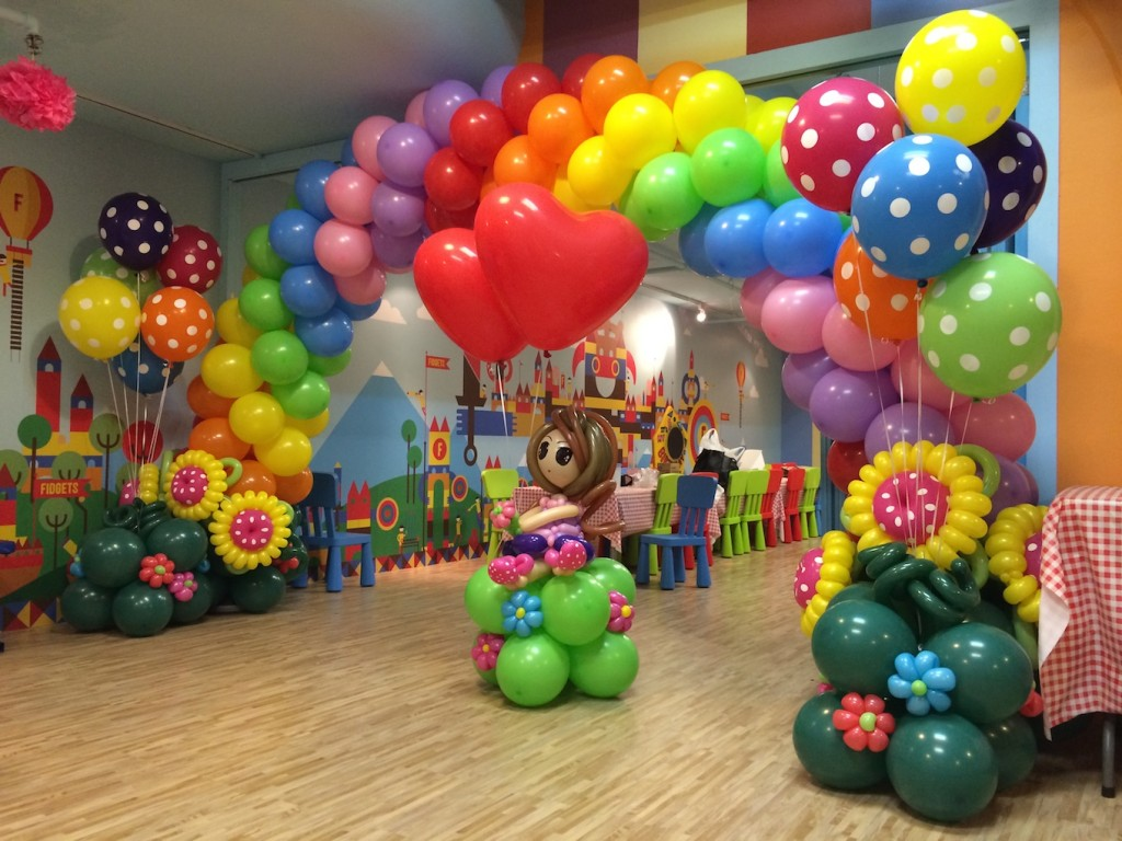 Joy Truck Rainbow Balloon Arch