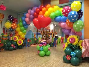 Joy Truck Rainbow Balloon Arch