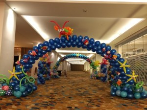 Sea Creatures Theme Balloon Arch