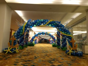 Underwater Theme Balloon Arch