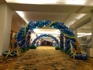 Underwater Theme Balloon Arch