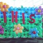 Garden Balloon Backdrop Design