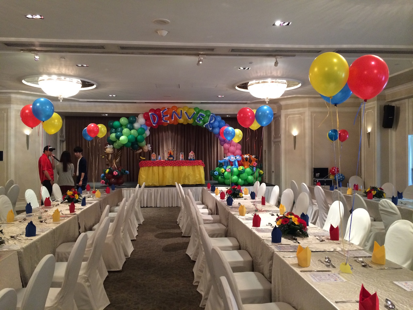 our client s child 1st birthday party celebration with balloon
