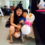 Balloon Snowman Sculpture