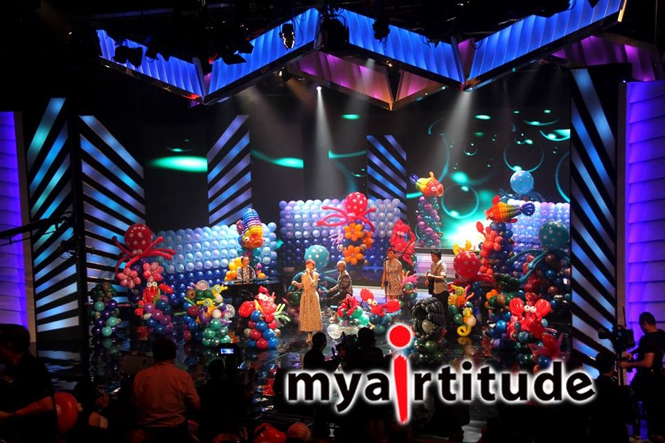 Balloon Backdrop for charity show
