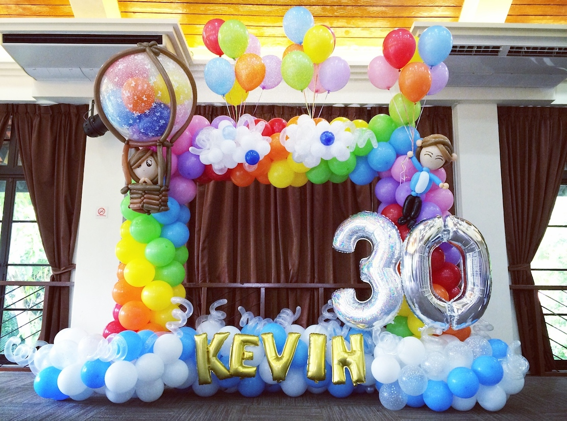 Singapore rainbow balloon decorations that balloons for Balloon arch frame kit party balloons decoration