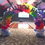 Custom Balloon Rainbow Arch