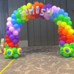 Singapore Rainbow Balloon Decoration