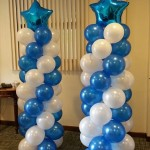 Blue Star Balloon Column