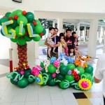 Flowers Balloon Backdrop Display