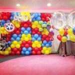 Superhero Balloon Backdrop