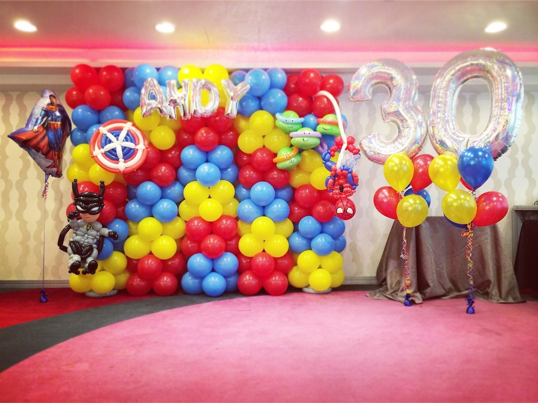 Balloons singapore that balloons part 3 for Balloon backdrop decoration