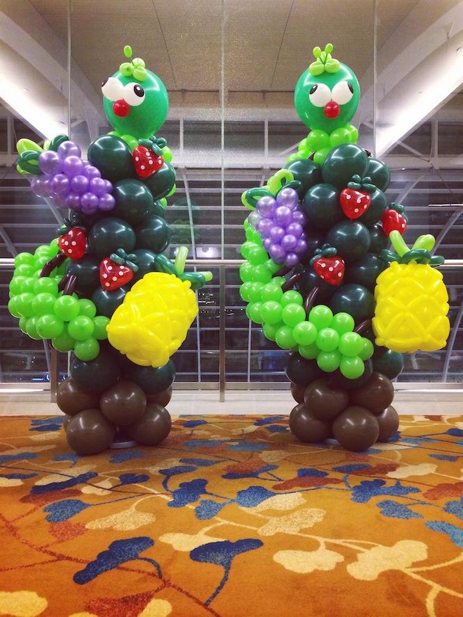 Balloon Fruits and Caterpillar