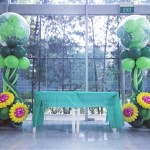 Flower Balloon Pillars