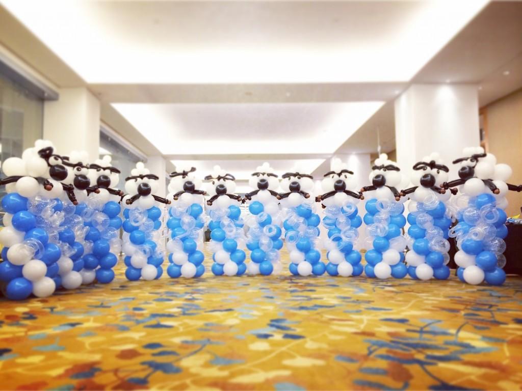 Balloon Sheep Columns