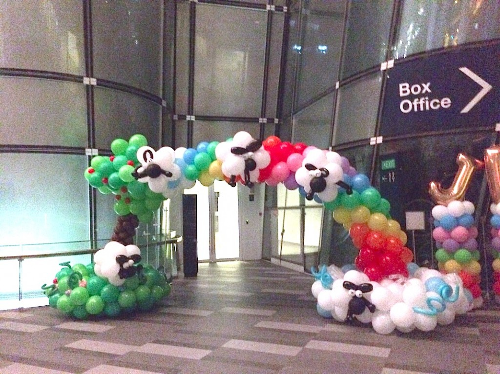 Balloon Sheep and Rainbow Arch