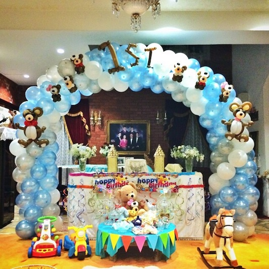 1st birthday balloon decorations that balloons for 1st birthday hall decoration ideas