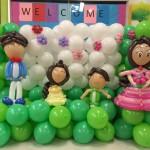 Family Balloon Backdrop