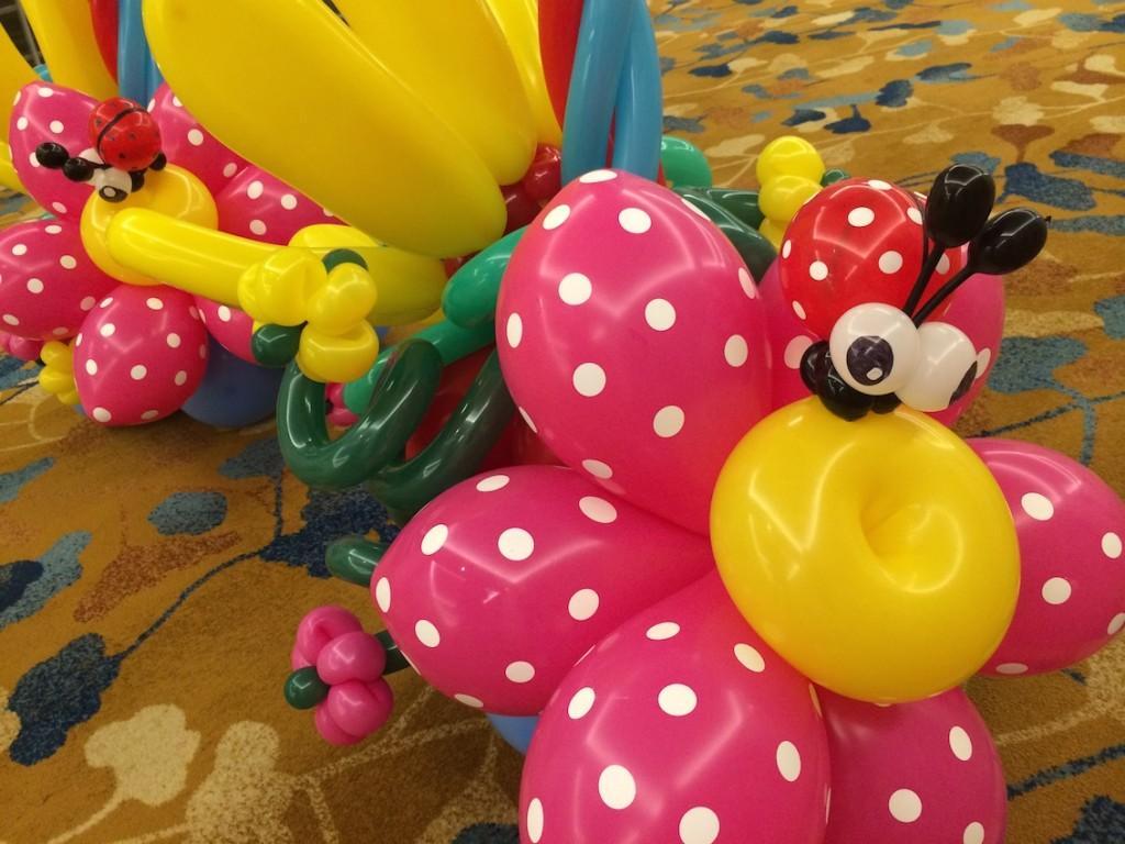 Balloon Ladybug on Flower