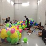 Balloons Drop from Net