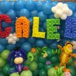 Winnie the pooh balloon backdrop