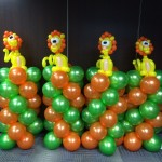 Balloon Lion Column Sculptures