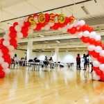 Sprial Balloon Arch at OCBC Areana