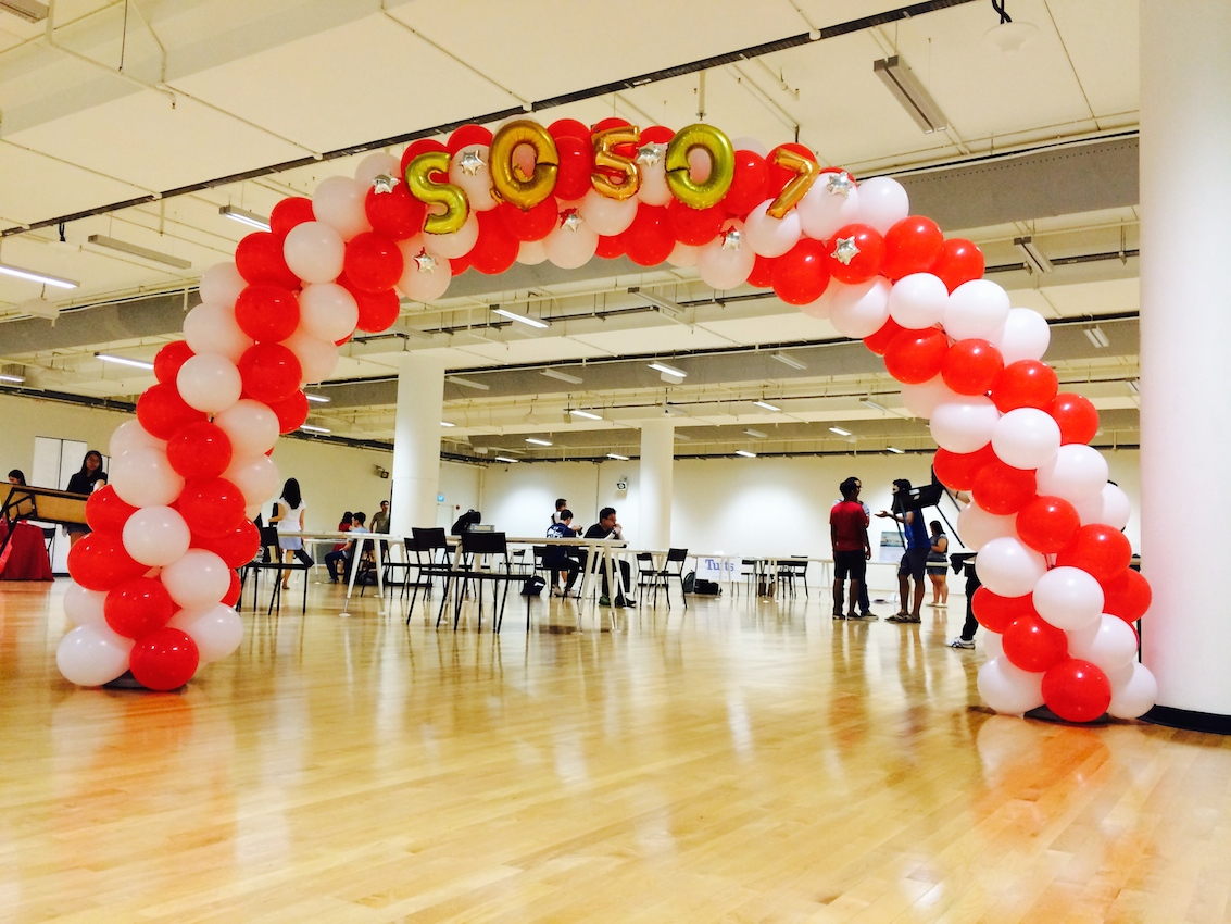 Balloon columns that balloons for Balloon arch decoration ideas