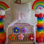 Balloon Rainbow Columns