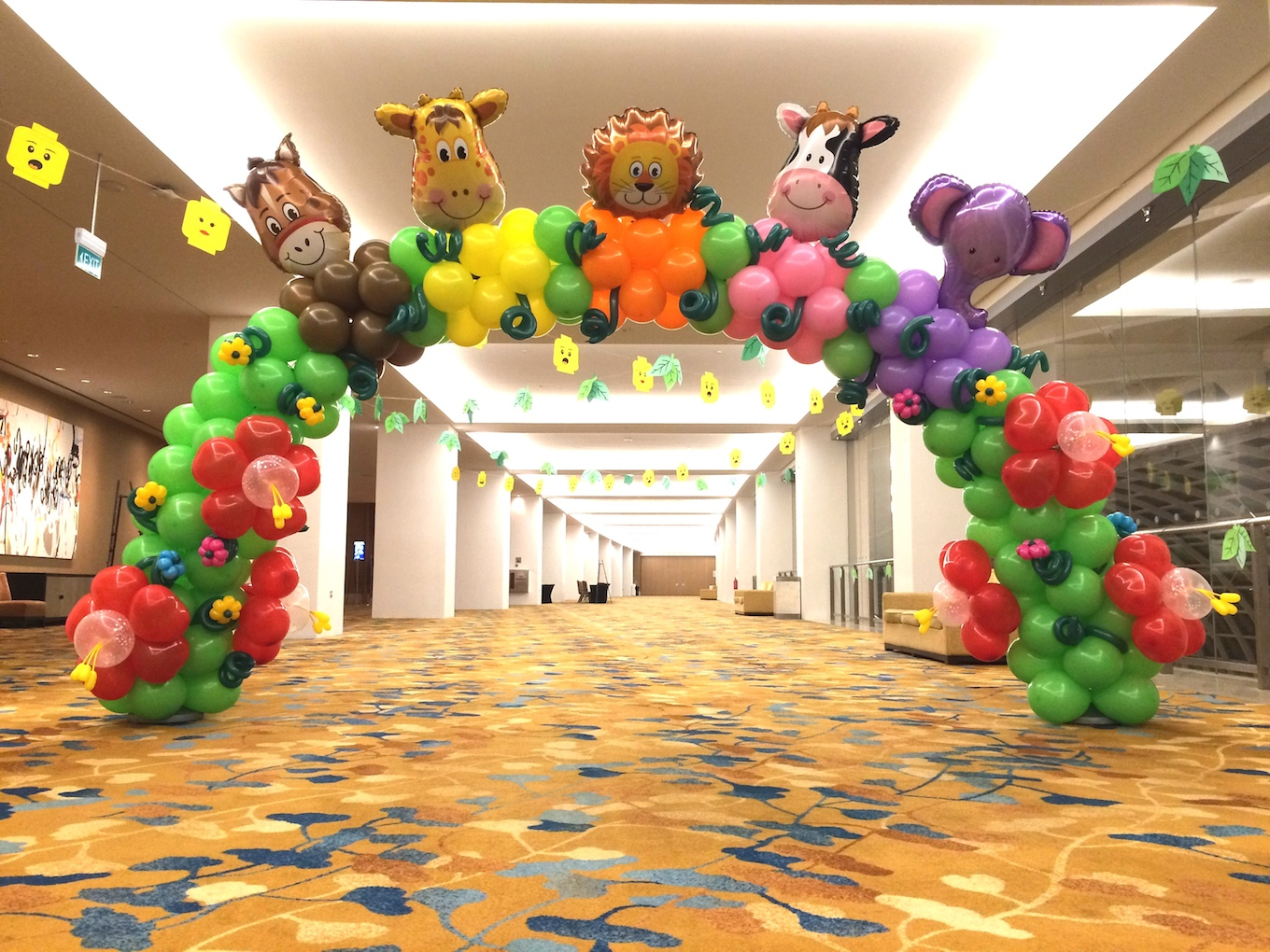 Balloon decorations for children day that balloons