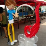 Balloon Boy and Prawn Sculpture