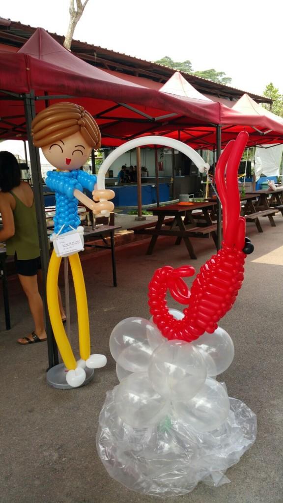 Balloon Boy and Prawn Sculpture