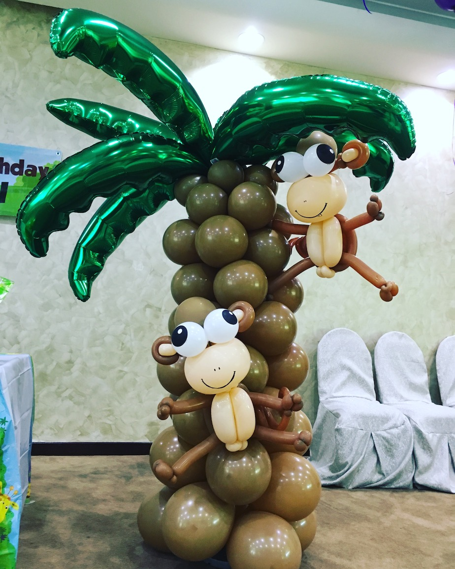 Balloon Palm Tree And Monkey That Balloons