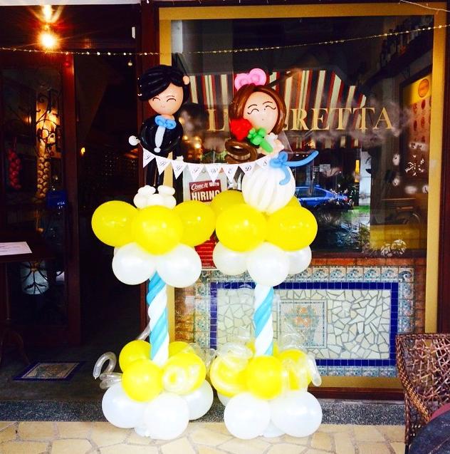 Balloon Wedding Couple Sculpture Singapore