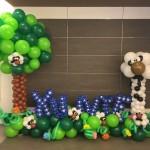 Customised balloon garden photo booth