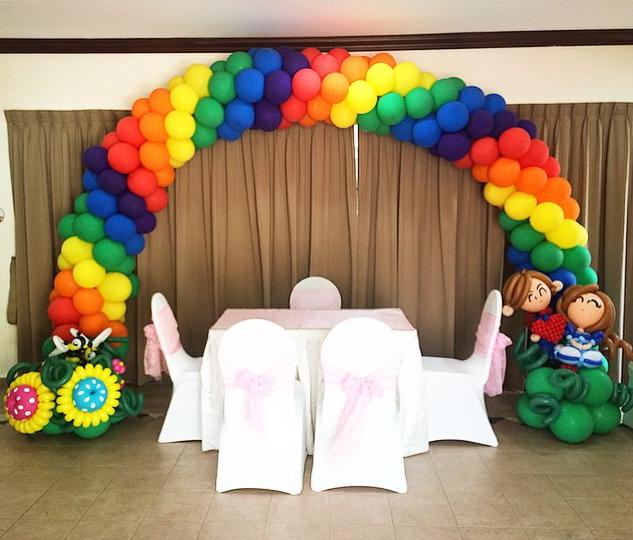 Rainbow Arch Balloon Deco
