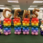 Rainbow Balloon Column Pillar
