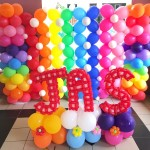 Rainbow Balloon Decorations