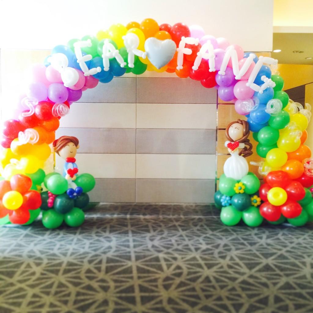 Rainbow Wedding Balloon Decoration
