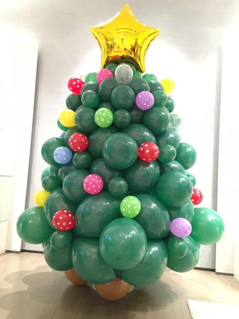 Balloon Christmas Tree Decorations